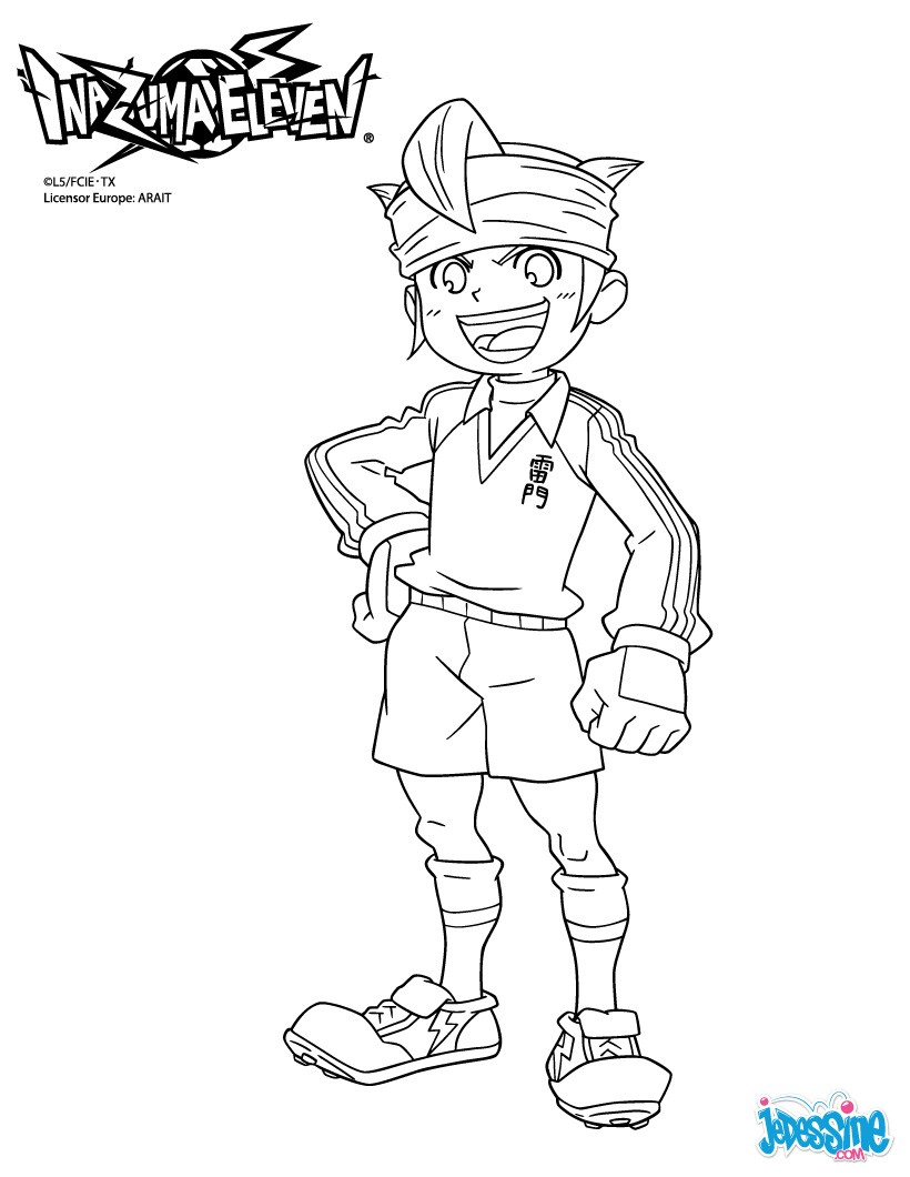Coloriage Inazuma Eleven : Le capitaine Mark EVANS