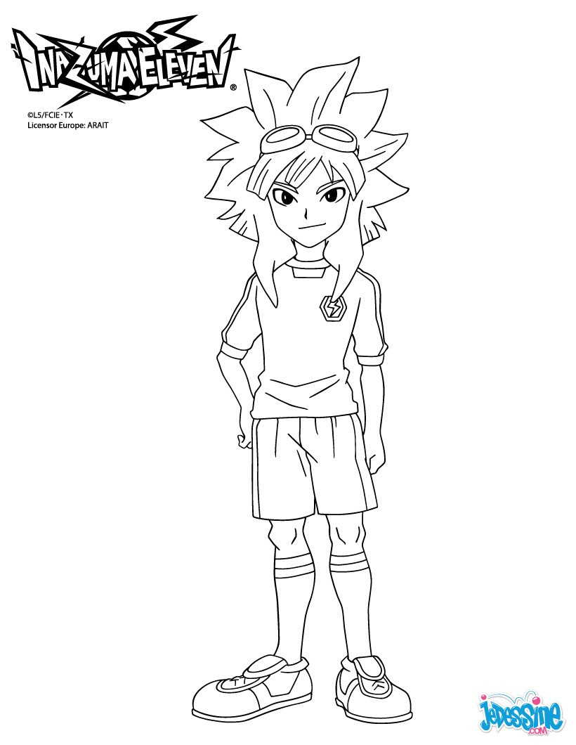 Coloriages hurley kane - Coloriage inazuma eleven ...
