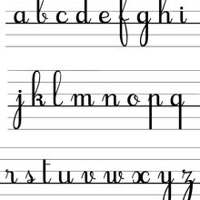 Modèle : Les lettres cursives minuscules