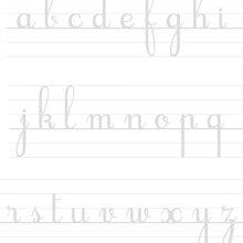 Ecrire les lettres cursives en minuscules