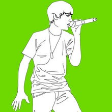 Coloriages JUSTIN BIEBER