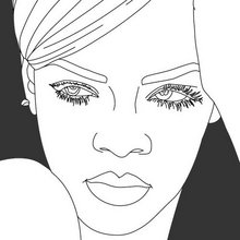 star, Coloriages RIHANNA