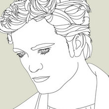 Coloriage ROBERT PATTINSON - Coloriage DE STARS - Coloriage