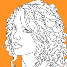 Coloriage TAYLOR SWIFT - Coloriage DE STARS - Coloriage