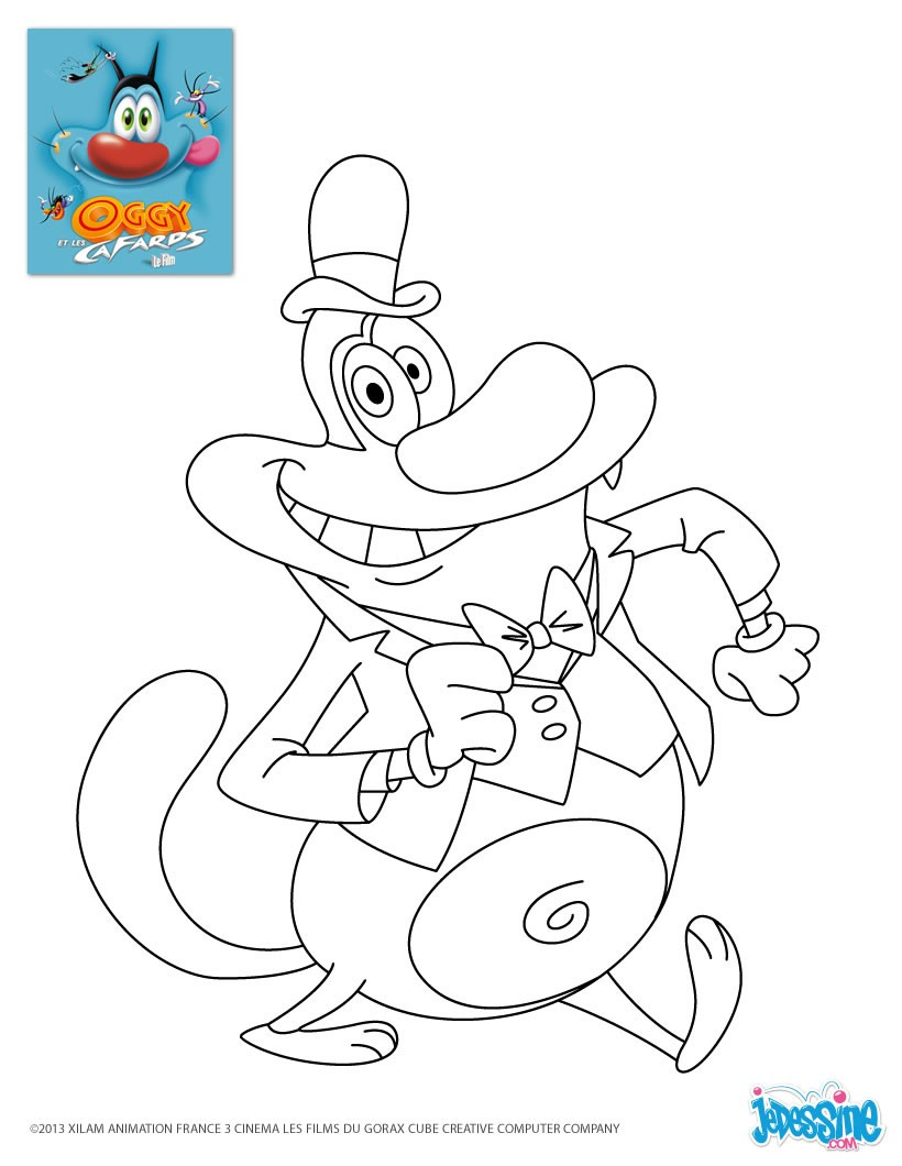 Coloriages oggy sherlock - Cafard dessin ...