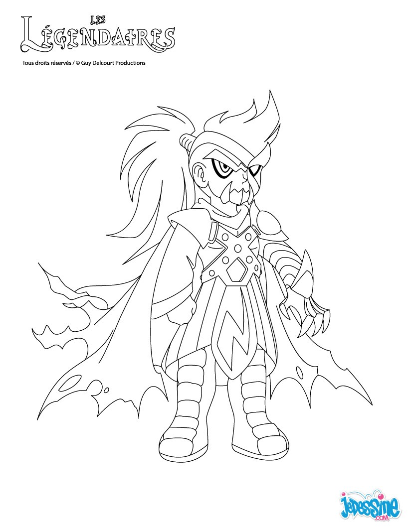 Coloriages capitaine ceydeirom - Coloriage legendaires ...