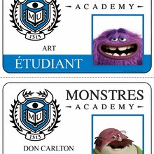 Cartes étudiant Art et Don Carlton