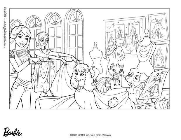 Coloriages barbie alice et ses amis animaux colorier - Barbie a colorier ...