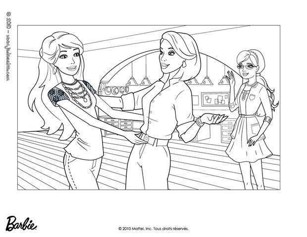 Coloriages Barbie, Alice Et Tante Millicent à Colorier