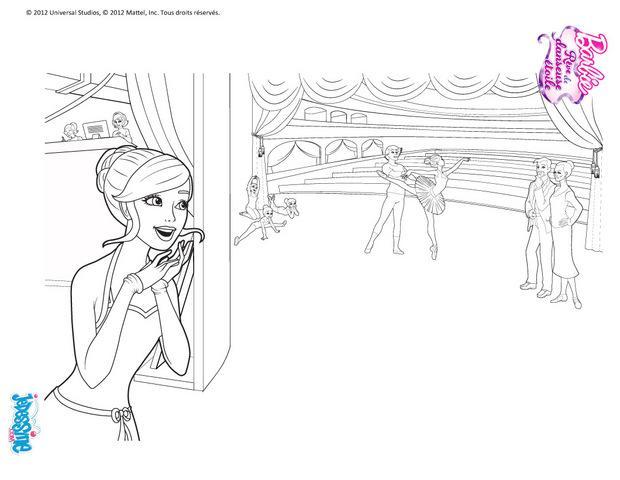 Coloriages barbie danseuse imprimer gratuitement - Coloriage barbie danseuse ...