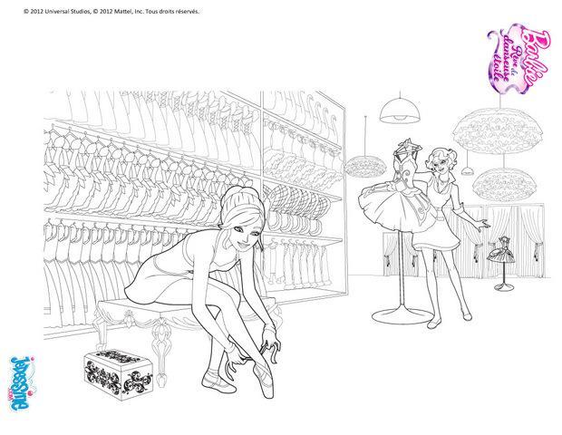Coloriages barbie danseuse en r p tition colorier - Coloriage barbie danseuse ...