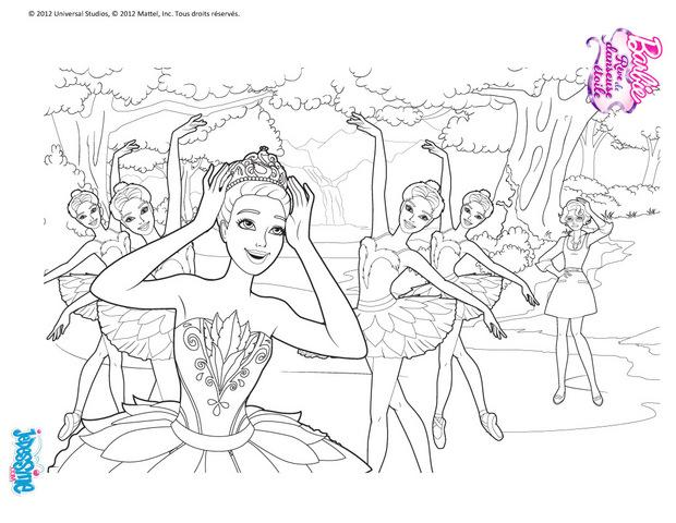 Coloriages Barbie Danseuse étoile à Colorier Fr Hellokids Com