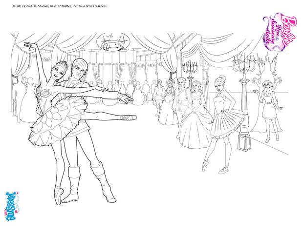 Coloriage204 coloriage barbie danseuse - Danseuse dessin ...