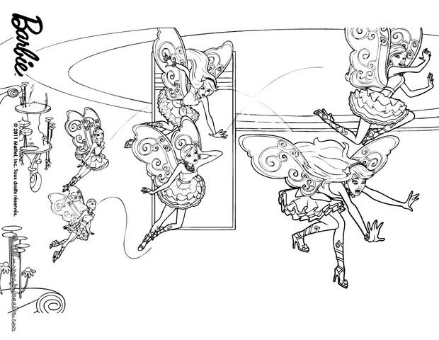Barbie And The Secret Door Printable Coloring Pages