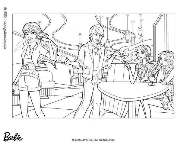 Coloriages barbie ken et ses amies colorier fr - Barbie a colorier ...
