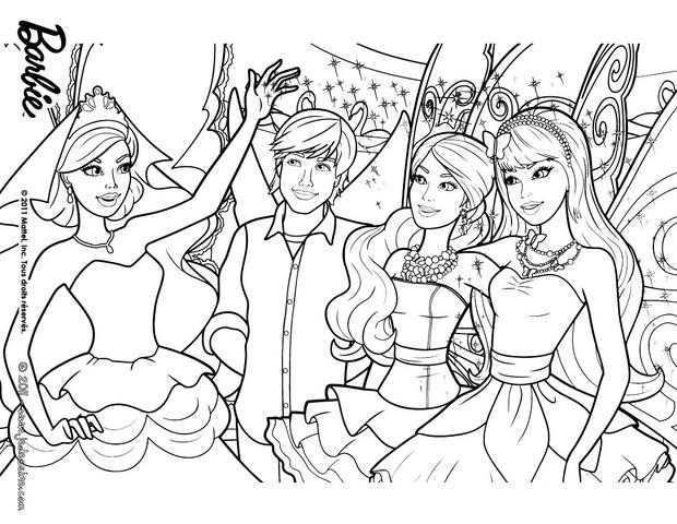 Coloriages barbie ken et ses amies les f es colorier - Barbie a colorier ...