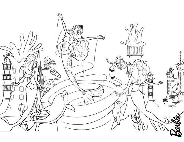Coloriages calissa et les sir nes - Barbie sirene coloriage ...