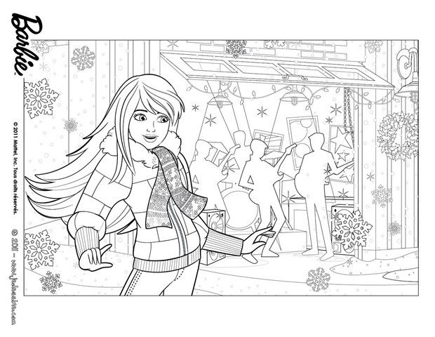 Coloriages coloriage de barbie no l - Barbie a colorier ...