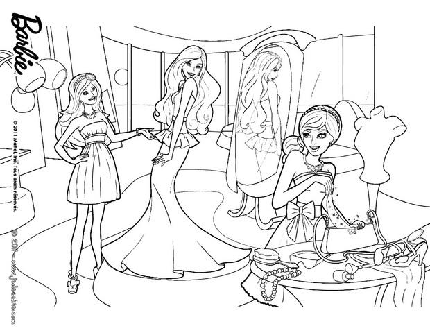 Coloriages coloriage de barbie carry et taylor fr - Barbie princesse coloriage ...