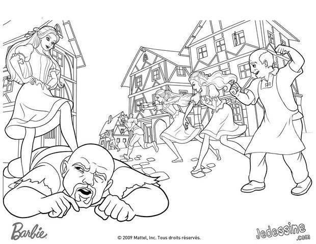 Coloriages coloriage de barbie et ses amies contre les brigands - Image de violetta et ses amies ...