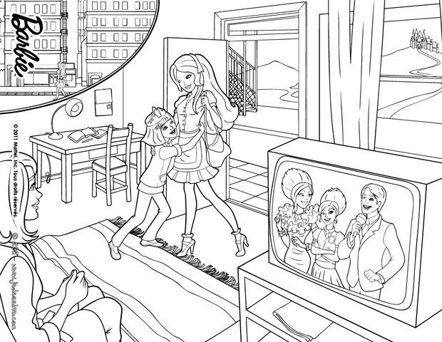 Coloriages coloriage de blair - Barbie princesse coloriage ...