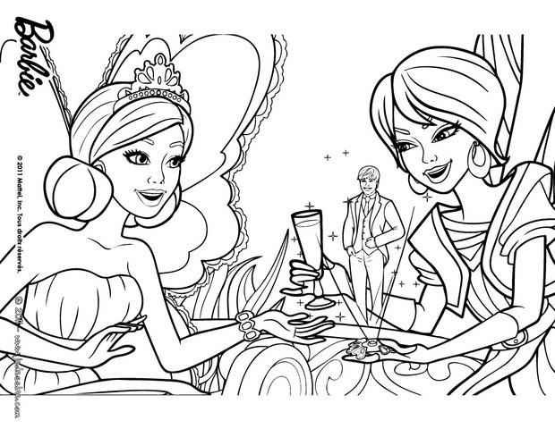 Coloriages coloriage de crystal et la princesse graciella - Barbie princesse coloriage ...