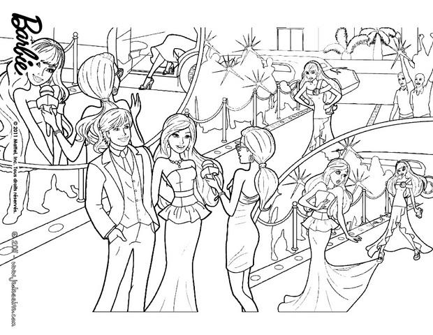 Coloriages coloriage de ken et la princesse graciella - Barbie princesse coloriage ...