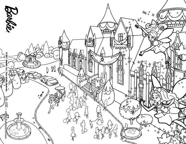 Super Coloriages coloriage de l'école des princesses - fr.hellokids.com BT74
