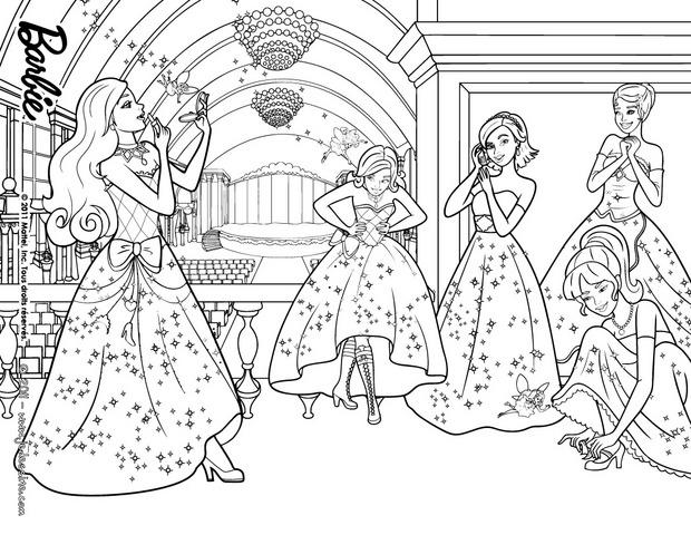 Coloriages coloriage des princesses et des f es - Barbie princesse coloriage ...