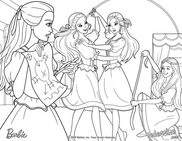 Coloriages coloriage du plan d 39 attaque - Barbie les 3 mousquetaires ...