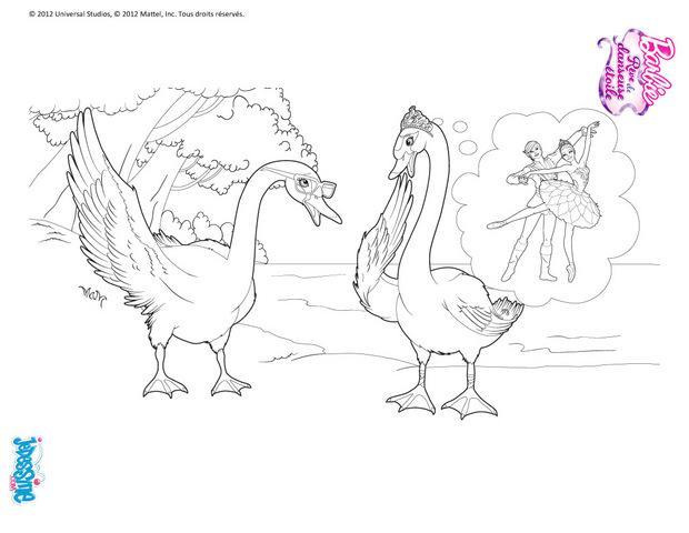 Coloriages coloriage en ligne lac des cygnes fr - Barbie le lac des cygnes ...