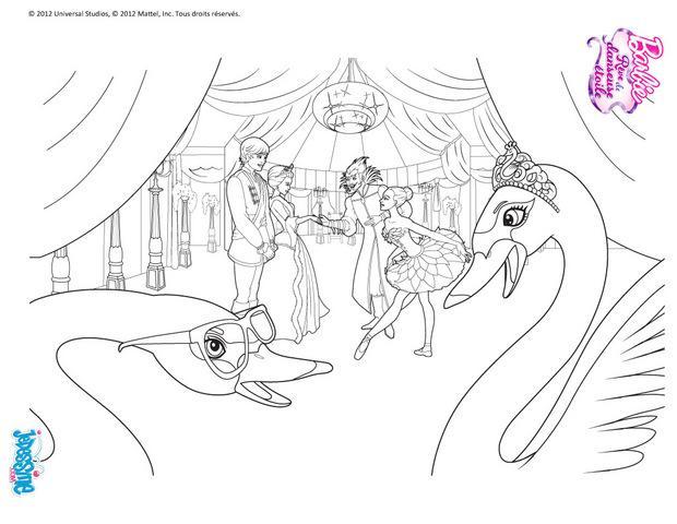 Coloriages coloriage lac des cygnes - Barbie le lac des cygnes ...