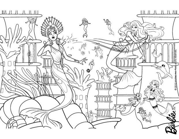 coloriage barbie eris en action
