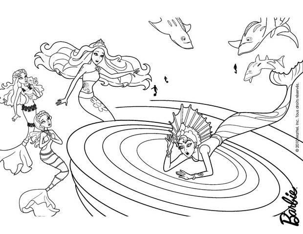 Zeemeermin Mako Mermaids Kleurplaat Coloriages Eris Et Merliah Fr Hellokids Com
