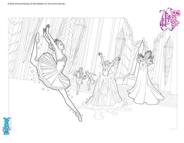 Barbie and the pink shoes coloring pages