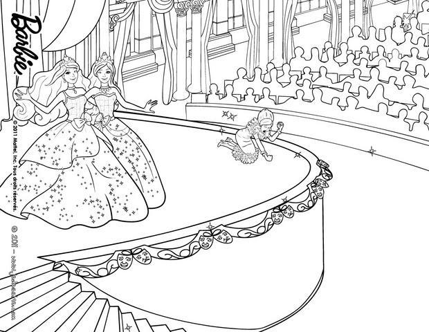Coloriages la d faite de dame davin - Coloriage barbie apprentie princesse ...