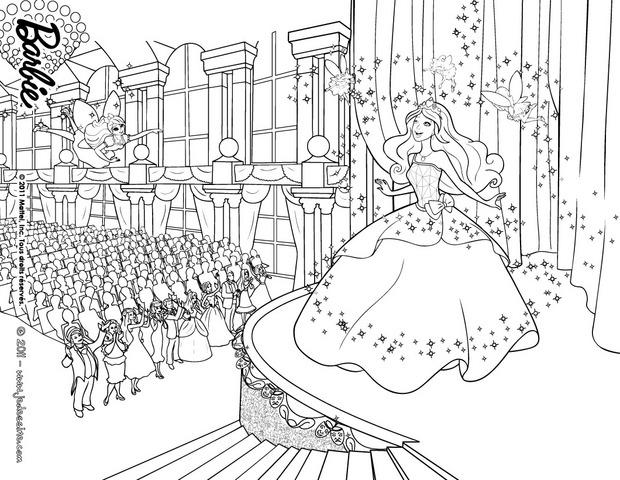 Coloriages la magie de grace harmony et caprice fr - Barbie princesse coloriage ...