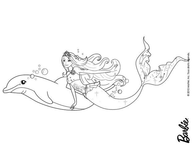 Coloriages merliah la sir ne - Dessin de barbie sirene ...