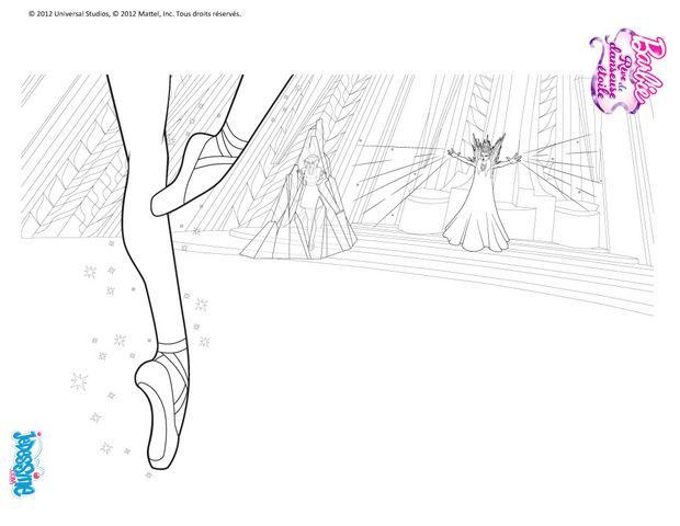 Coloriages pointes de barbie danseuse colorier - Coloriage barbie danseuse ...