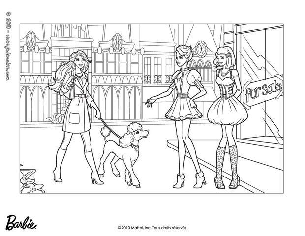 Coloriages teresa gr ce et barbie colorier fr for Barbie a fashion fairytale coloring pages to print