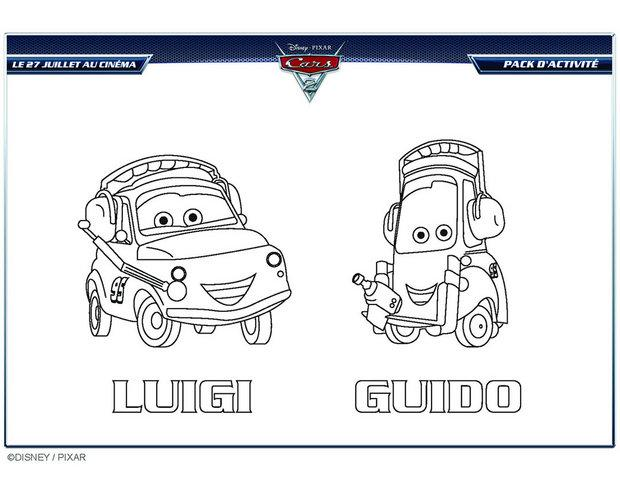 Coloriages coloriage cars 2 luigi et guido - Image a colorier cars 2 ...