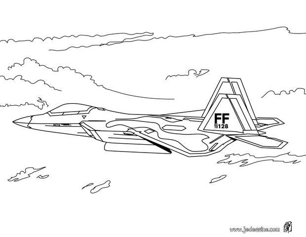 Coloriages avion de combat - Coloriage de avion ...