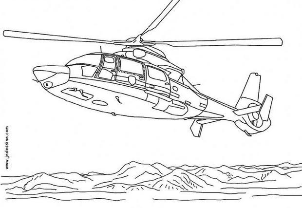 Coloriages coloriage d 39 un h licopter - Coloriage helicoptere cars ...