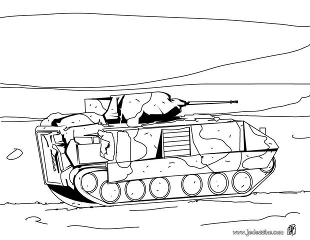 Coloriages coloriage d 39 un tank de l 39 arm e - Coloriage de char ...