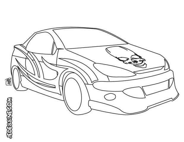 coloriages coloriage d 39 une voiture t te de mort fr. Black Bedroom Furniture Sets. Home Design Ideas