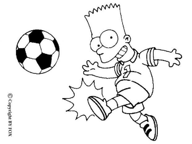 Coloriages coloriage de bart au football - Dessin de bart ...