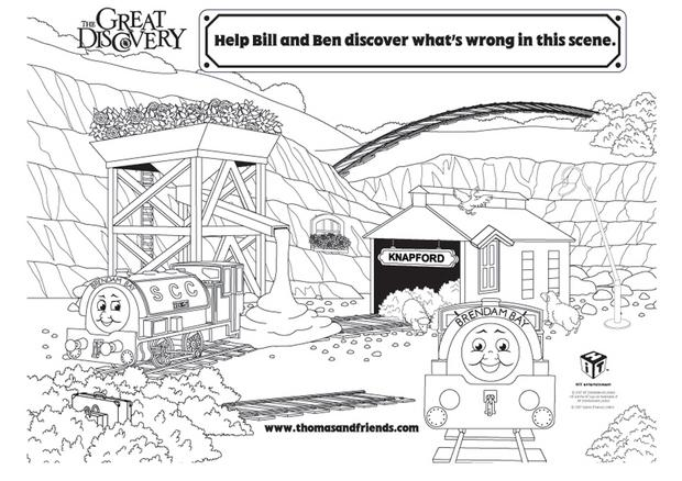 Coloriages coloriage de bill et ben - Thomas le petit train coloriage ...