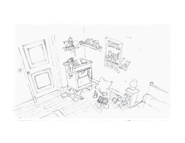 coloriages coloriage de la chambre d 39 ernest. Black Bedroom Furniture Sets. Home Design Ideas