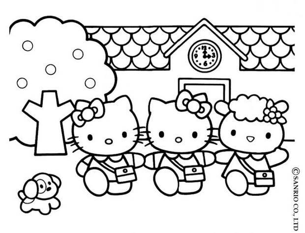 Coloriages coloriage de la maison de hello kitty - Coloriage tete hello kitty a imprimer ...