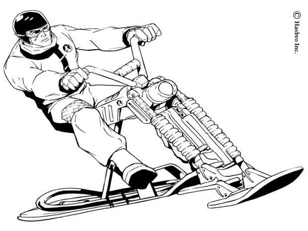 Coloriage de la moto d'Action Man